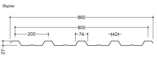 Galvanizli Trapez Sac 0,50 mm