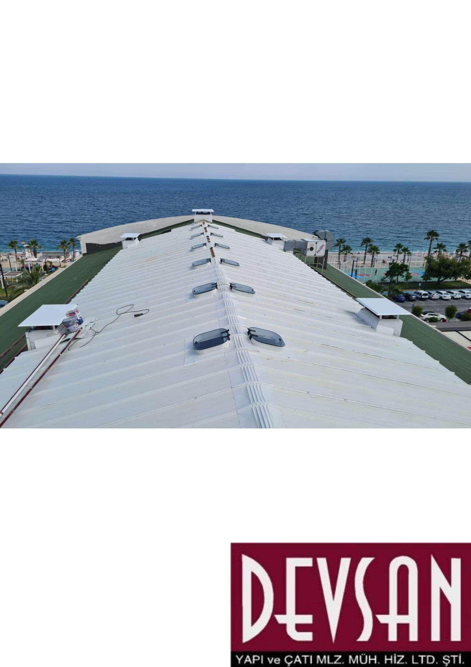 Sandvic Çatı Paneli 3 Hadve 40mm. Ral9002